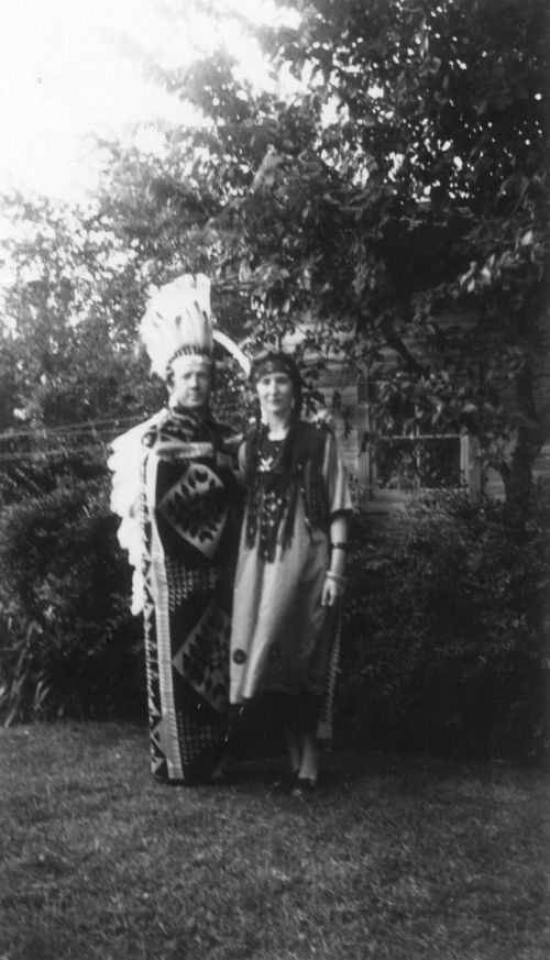 1940 Dad, Mom in costume for �Indian Love Call.�
